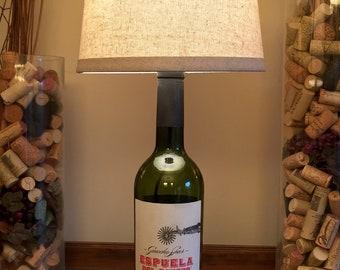 Espuela Del Gaucho, Wine Bottle Lamp (750ml Bottle)
