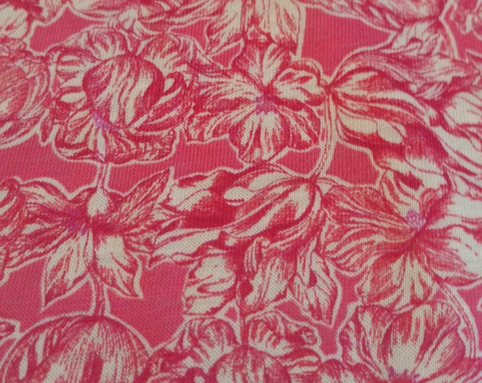Matilda Tulip in Pink JERSEY - Liberty of London by the 1/2 yard