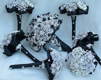 FullPrice Bridesmaid or Toss Mini Brooch Bouquet Made to Order in your colors.