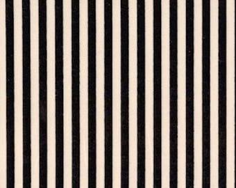 Marcus Quilt Fabric - Tricks and Treats Series Black White Stripe - Designer Edelen Willie - One and Three Quarter Yards