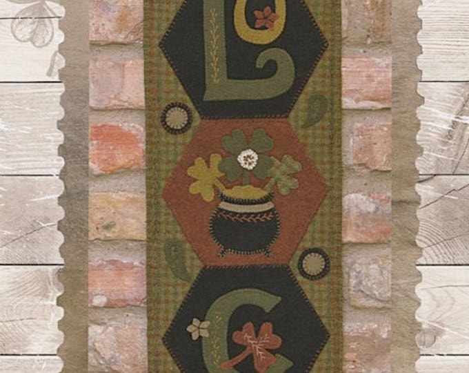 """Featured listing image: Pattern: A Year of Hexi """"WORD"""" Door Greeters - March """"LUCK"""" by Buttermilk Basin"""