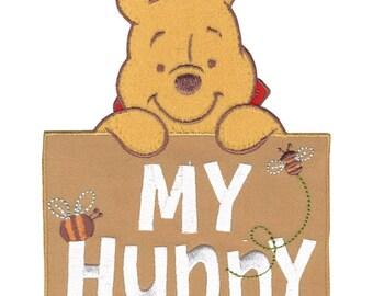 Disney Winnie The Pooh Iron-On Applique, My Hunny #6737