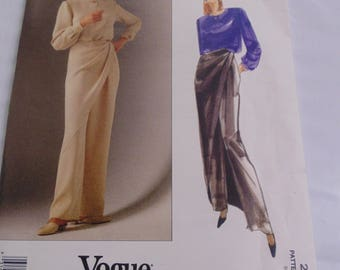 Vogue Pattern, Bill Blass, Size 6-8, Designer Misses Top and Pants