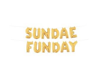 Sundae Bar Sign, Sundae Funday Banner, Ice Cream Party Banner