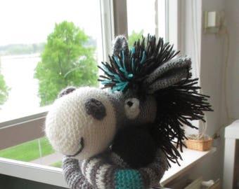 Donkey , Donkey crochet, Donkey plush, Toy for boy, Soft toy, Stuffed animal donkey