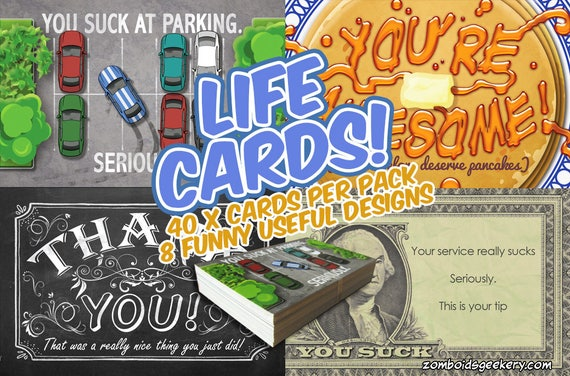 Life Cards, A deck of 40 handy well designed cards for all occasions