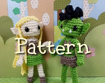Elf and Orc Crochet Amigurumi Pattern
