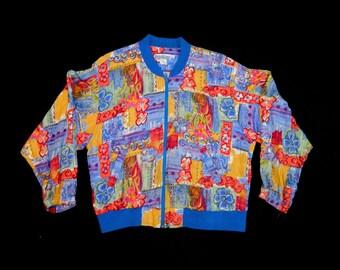 Vintage Floral Bomber Jacket.