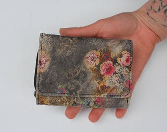 Small Wallet floral n21 leather