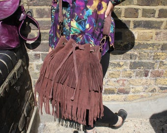 Small Duffel Fringy Brown