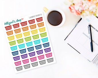 Laundry Baskets - Planner Stickers