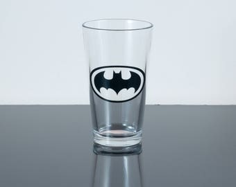 Pint Glass Inspired by Batman