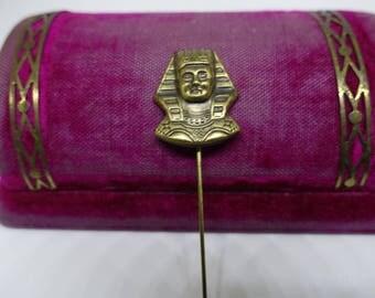 Vintage 20s 30s Egyptian Revival Pharaoh King Tut Stick Pin
