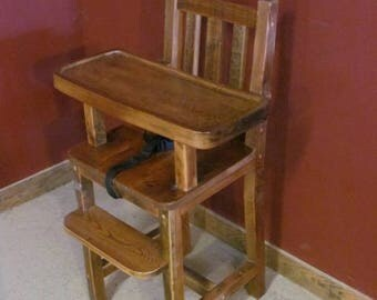Reclaimed BarnWood High Chair with Tray