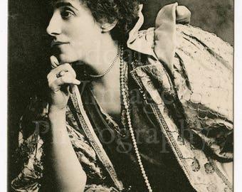 Mrs. Tree Edwardian Actress RPPC Postcard - Raphael Tuck & Sons - Unused