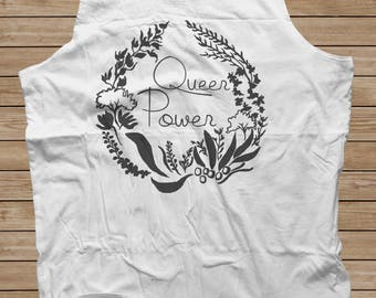 Gay Pride Tank Top: Queer Power, CUSTOM Feminism Shirt size S-3XL