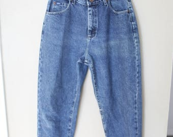 vintage LEE  high rise waist tapered mom  jeans denim 30