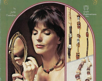Macrame Jewelry Expressions Vintage Craft Instruction Pattern Book