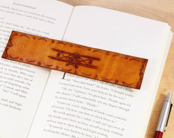 Tiger Moth Bookmark Hand Carved Leather Bookmark Biplane Gift For New Pilot Flying Gift Pilot Bookmark Aviation Gift For Dad Tiger Moth Gift