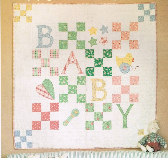 QUILT PATTERN - 9 Patch Baby Wall Hanging Quilt Sewing Pattern ...