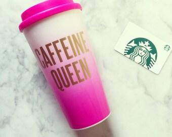Caffeine Queen Double Wall Coffee Travel Tumbler