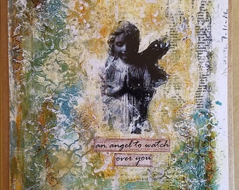 An angel to watch over you art card