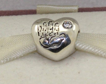 Pandora Baby Girl CZ Charm #791280PCZ Excellent Pre Owned Condition