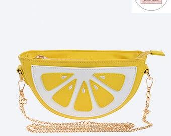 Lemon Lemonade Haute Leather Statement Clutch