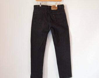 Orange Tab Levi's Size Men's 33/32 90's Era Black Levis Jeans men's Vintage Levi's 505 Regular fit Straight Leg