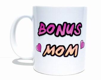 Stepmom mug, bonus mom mug, stepmom gift, stepmother gifts, stepmom wedding gift, personalized mug, cute mugs, unique mugs