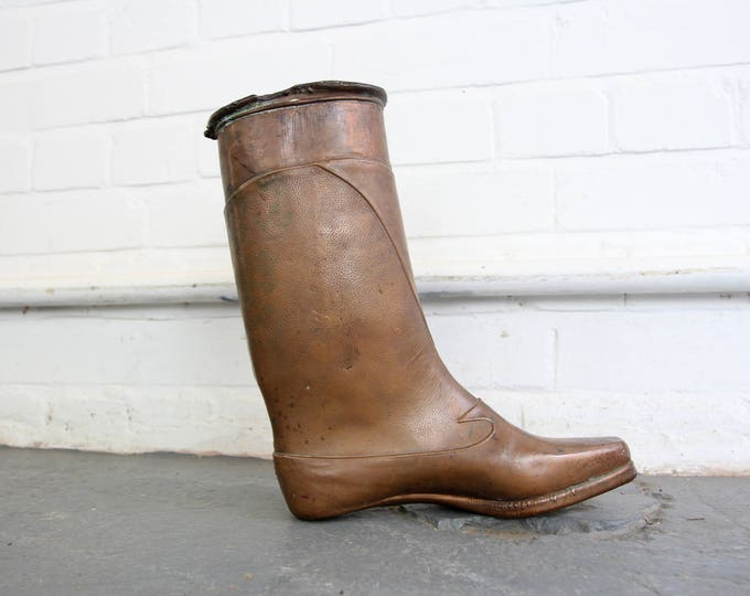 Industrial Copper Boot Form Circa 1910