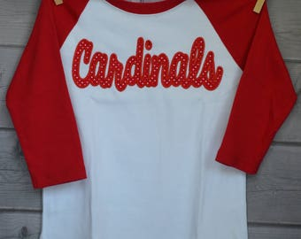 Personalized Cardinals Football Applique Shirt or Onesie