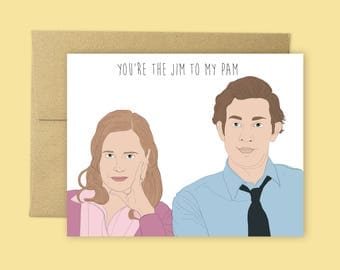 the office jim and pam valentines day card anniversary card love cards - The Office Valentines Day Cards