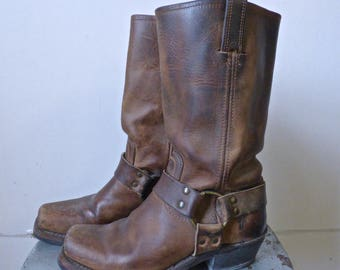Brown Frye Harness Boots Ladies size 6