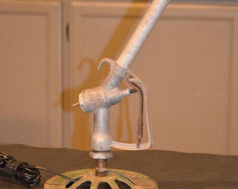 Repurpose Gas Handle Lamp, Repurposed Lighting Decor
