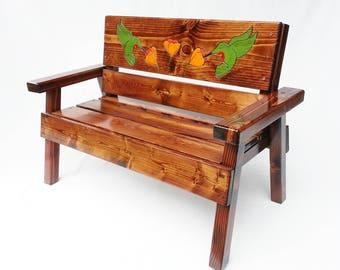 Outdoor Furniture For Children, Kids Patio Garden Bench, Heirloom Gift,  Toddler +,