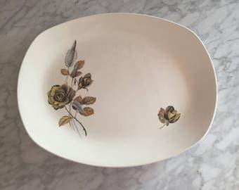 "vintage 60s Midwinter Platter in the ""Mink Rose"" pattern"