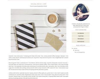 Blogger template - Simple Floral Pastel Clean Blog Design - Blog Theme - Blog Layout - Blogspot Template