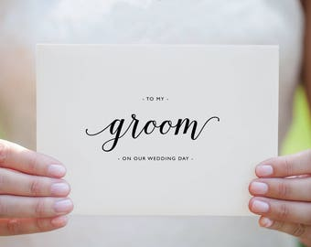 To My Groom On Our Wedding Day, I Can't Wait To Marry You, Wedding Card to Groom, Wedding Day Card, Wedding Cards, Future Husband Card, K3