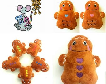 Gingerbread Man, Gingerbread Soft Toy, Plushie, Soft Toy, Gingerbread Plushie, Stocking Filler, Christmas, Cuddly Toy