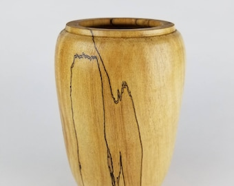 Vase from spalted maple