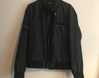 Vintage 90s UNWORN Black Members Only Jacket / Large