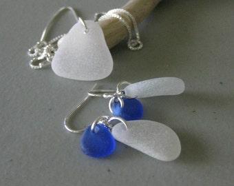 real sea glass jewelry set, beach sea glass jewelry, SeaglassWithATwist