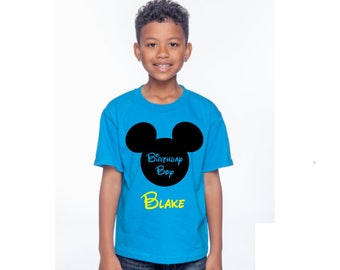 Disney Birthday Shirt, Birthday Boy, Mickey Shirt, DIsney Vacation, Birthday boy, boy, Mickey, Disney Vacation