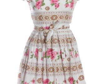 Vintage 1950's Floral Day Dress 8 - www.brickvintage.com