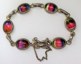 Vintage Sarah Coventry Rainbow Bracelet, Harmony Collection