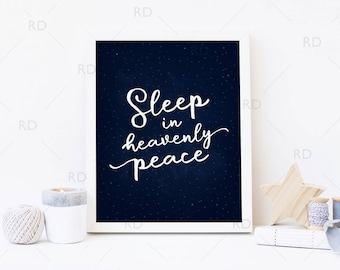 Sleep in Heavenly peace PRINTABLE - holiday art / Christmas art / Xmas / Silent Night Christmas Lyrics Printable Art / Christmas Printable