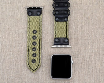 Apple Watch Band 42mm - Leather Apple Watch Strap 38mm - iWatch Band Fabric - Apple Watch Accessories - Lugs Adapter