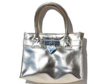 Girls Pink Faux Leather Handbag