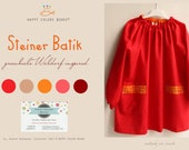 """Steiner Batik"" coloured apron-Waldorf Waldorf School (kindergarten, painting and other activities)-for children and adults"